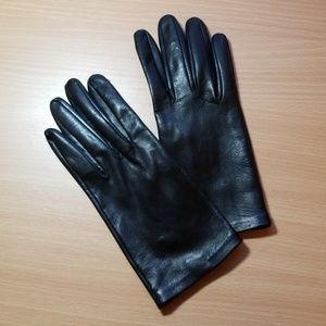 Anthro 100% Leather Silk-Lined Gloves, Worn Twice